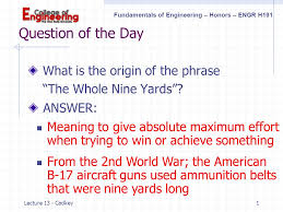 question of the day what is the origin of the phrase ppt