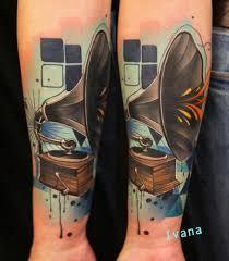 gramophone by ivana tattoo art tattoos