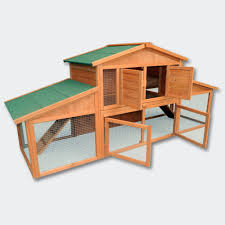 Large Rabbit Hutch With Run Wiltec Xxl Chicken Coop Hen House Poultry Rabbit Hutch Large