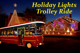 Dallas Outdoor Lighting by Holiday Lights Trolley Ride Big D Fun Toursbig D Fun Tours
