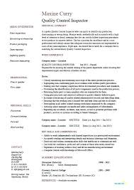 resume qualifications resume qualification sle quality inspector resume