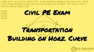 transportation how close to build a building on horizontal curve
