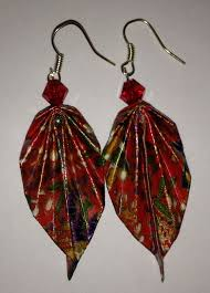 origami earrings wings origami earrings