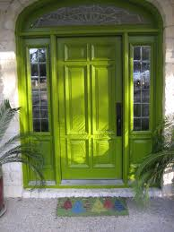 green finished 6 panels front door ideas using half glass small