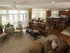 open concept kitchen living room designs one big open