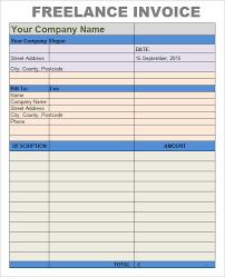freelance writing invoice template freelance invoice template u2013 7 free samples examples format