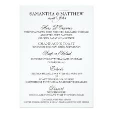wedding menu templates wedding menu templates gifts on zazzle