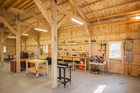 Shop With Loft by Interior Of One U0026 A Half Story Post And Beam Country Barn With