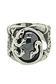 new arrival cool charm vintage stainless steel snake ring