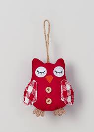 felt owl single tree decoration 12cm matalan owls