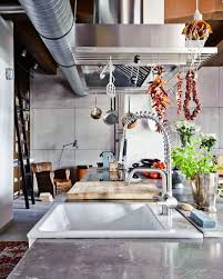 design stainless steel material industrial kitchen design large size of industrial style kitchen for foodies with good taste budapest underhead stainless steel rack