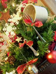 image result for christmas tree with kitchen theme 2016