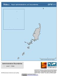 Palau Map Maps Gridded Population Of The World Gpw V3 Sedac