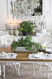 french country dining room ideas with rustic table and white