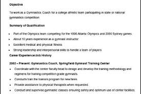 Gymnastics Coach Resume Assistant Coach Resume Profile Sample Reentrycorps