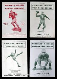 first thanksgiving nfl game 1938 1942 brooklyn dodgers nfl programs lot 13 including first