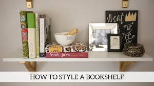 how to style a bookshelf home decor diy youtube