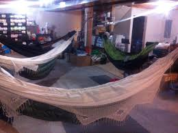 Brazillian Hammocks Ready For The Sleepover In The Basement