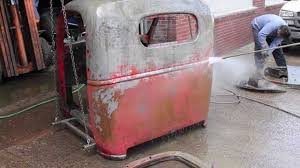 Vintage Ford Truck Body Parts - removing rust from a classic truck 1939 chevrolet cab over