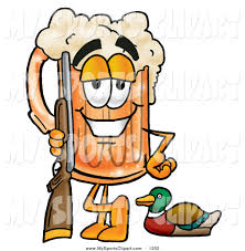 beer cartoon sports clip art of a cheerful beer mug mascot cartoon character