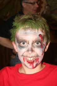 viewing gallery for zombie face painting the house