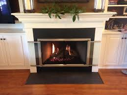 gorgeous glass fireplace doors for wood burning round brown