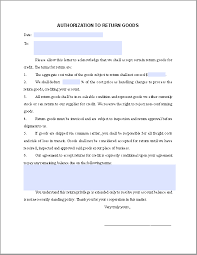 return goods authorization form template free fillable pdf forms