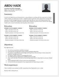 Client Services Manager Resume Assistant Portfolio Manager Resume Contents Layouts U0026 Templates