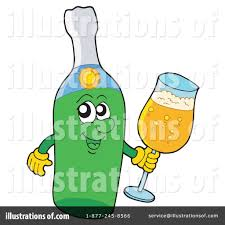 champagne bottle cartoon champagne clipart 214397 illustration by visekart