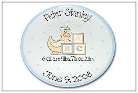 baby birth plates personalized just ducky personalized baby birth plate serendipity crafts