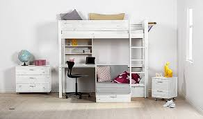 High Sleeper Bed With Desk And Sofa High Sleeper Bed With Desk And Sofa Bed New Flexa Hit High Sleeper