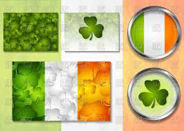 patricks day design elements irish flag and background with