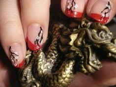geisha nail art tutorial asian red u0026 gold leaf acrylic nail art