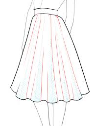 draw how to draw a flare skirt i draw fashion