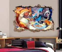 pokemon wall stickers ebay charizard pokemon smashed wall decal graphic wall sticker decor art h378