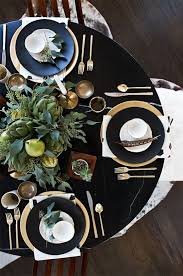 how to set a table with silverware tablescape inspiration gold chargers elegant and dark