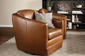 swivel leather chairs living room amazing swivel leather chair living room eizw info