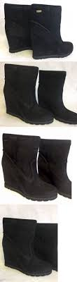 s boots wedge boots ugg s brita suede and sheepskin boots in