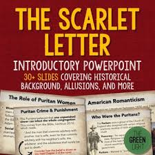 the scarlet letter introductory powerpoint activity and