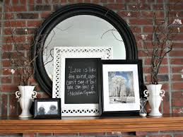 picture frames on fireplace mantel image collections craft
