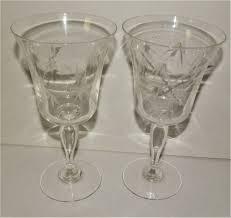 Sasaki Crystal Vase Noritake Gray Cut Etched Crystal Sasaki Bamboo Wine Glass Goblet