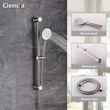 2017 sus304 stainless metal shower sliding bar with height
