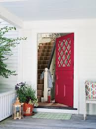 painting an exterior door red mid century modern front color house