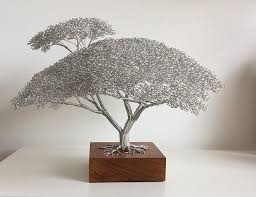 clive maddison wire tree sculptures artpeople wire wrapped