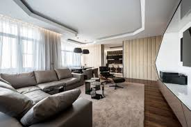 Eames Lounge Chair In Room Living Room Modern Apartment In Moscow By Geometrix Design Eames