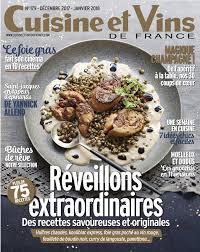 magazine cuisine et vins cuisine et vins de n 179 du 09 novembre 2017 à télécharger