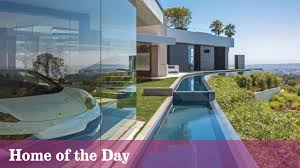 home of the day a modern stronghold with a moat in beverly hills