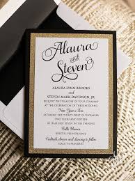 new years wedding invitations steve s gold glam new year s wedding invitation suite