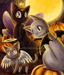 moon kitties halloween by sapphireluna deviantart com on