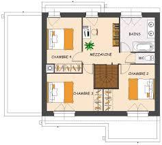 maison avec 4 chambres plan de maison avec mezzanine contemporaine 4 chambres scarr co